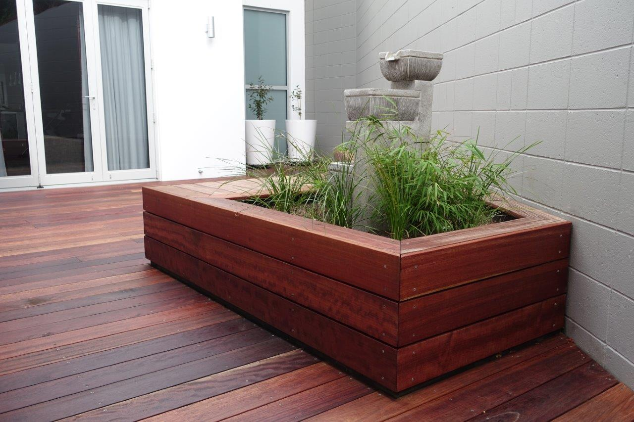 Deck and water feature